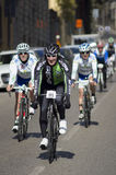FLORENCE, ITALY - MARCH 2: Competitor during the Granfondo Firenze DeRosa race Stock Image