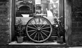 The restaurant with the wheel in Florence stock image