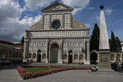 Florence, Italy: may 3. 2017 - Basilica of Santa Maria Novella is the first great basilica in Florence, and is the city`s principa Stock Image