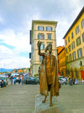 Florence, Italy - May 01, 2014: The bronze statue dedicated to the fighters for independence of Italy Royalty Free Stock Images