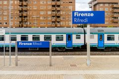 Railway station in Florence Royalty Free Stock Images
