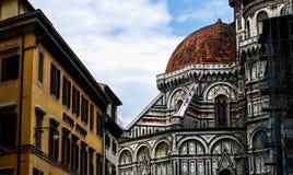 Florence Italy Medieval Gothic Style kyrkatorn royaltyfri fotografi