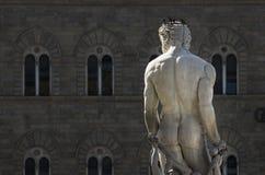 florence italy neptune s staty Arkivbilder