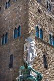 florence italy neptune staty Royaltyfri Foto