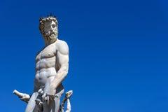 florence italy neptune staty Royaltyfria Bilder
