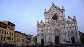 FLORENCE, ITALY - NOVEMBER 2016: Basilica di Santa Croce di Firenze. FLORENCE, ITALY - NOVEMBER 2016: Basilica di Santa Croce di Firenze stock footage