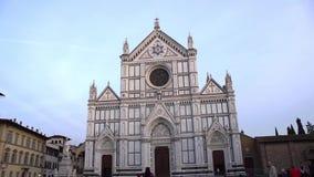 FLORENCE, ITALY - NOVEMBER 2016: Basilica di Santa Croce di Firenze. FLORENCE, ITALY - NOVEMBER 2016: Basilica di Santa Croce di Firenze stock video footage