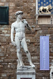FLORENCE, ITALY - NOVEMBER, 2015: David by Michelangelo, Palazzo Vecchio entrance Royalty Free Stock Images