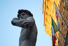 FLORENCE, ITALY - NOVEMBER, 2015: David statue of Michelangelo Buonarroti, copy in the Signoria's square Stock Images
