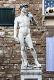 FLORENCE, ITALY - NOVEMBER, 2015: David statue of Michelangelo Buonarrotin Fiore cathedral, flood detail Stock Photo