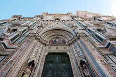 FLORENCE, ITALY - NOVEMBER, 2015: Detail of the Santa Maria in Fiore cathedral Royalty Free Stock Photo