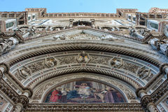 FLORENCE, ITALY - NOVEMBER, 2015: Detail of the Santa Maria in Fiore cathedral Stock Image