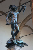 FLORENCE, ITALY - NOVEMBER, 2015: Perseus by Benvenuto Cellini, bronze statue Stock Photos
