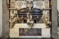 FLORENCE, ITALY - NOVEMBER, 2015: Tomb of Michelangelo Buonarroti, Santa Croce cathedral Royalty Free Stock Image