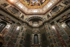 Interiors of Medici chapel, Florence, Italy Royalty Free Stock Photography