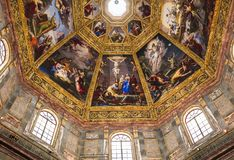 Interiors of Medici chapel, Florence, Italy Royalty Free Stock Image