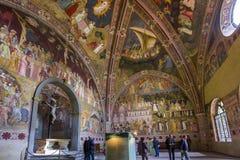 Basilica of Santa Maria Novella, Florence, Italy. FLORENCE, ITALY, OCTOBER 26, 2015 : interiors and architectural details of Santa Maria Novella basilica royalty free stock image