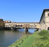 Florence Italy Old Bridge nannte Ponte Vecchio Lizenzfreie Stockfotografie