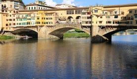 Florence Italy Old Bridge nannte Ponte Vecchio Stockbild