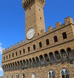 Florence Italy The old Palace also called Palazzo Vecchio. In Italian Language Royalty Free Stock Photos