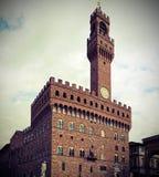 Florence Italy Old Palace in Signoria-Quadrat in Italien Lizenzfreie Stockbilder