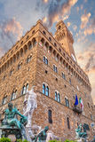 florence italy palazzovecchio Arkivfoto