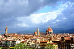 florence italy panorama Arkivfoton