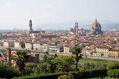florence italy panorama- sikt Arkivfoton