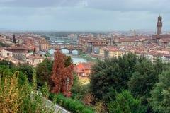 florence Italy ponte vecchio obrazy royalty free
