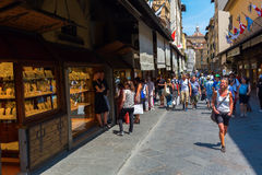 florence Italy ponte vecchio Obrazy Royalty Free