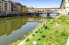 florence Italy ponte vecchio widok Zdjęcie Stock