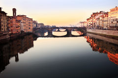 Florence Italy river view Royalty Free Stock Images