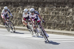 FLORENCE, ITALY - SEPTEMBER 22: Lotto Belisol Ladies Team during the Uci Road World Championships. Lotto Belisol Ladies Team during the team time trial elite Stock Images
