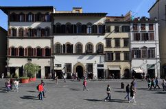 Piazza San Lorenzo in Florence, Italy Stock Images