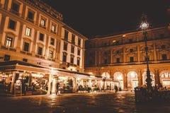 Florence, Italy - September 25, 2017: Piazza Della repubblica at night