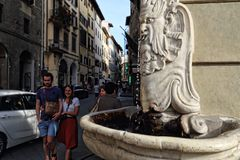 Fountain with drinking water in Florence, Italy Royalty Free Stock Photography