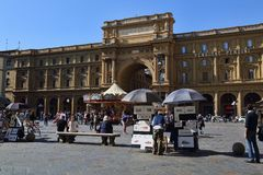 Souvenir stalls in Florence, Italy Stock Images