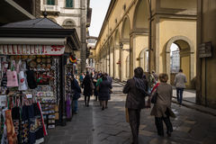 Florence, Italy shops Porte Vecchio Royalty Free Stock Photos