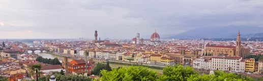 Florence, Italy skyline panorama royalty free stock photography