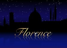 Florence Italy skyline silhouette black design on white background. Hand drawn ink line sketch European old town Firenze. Florence Italy skyline silhouette vector illustration