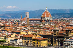 Florence, Italy. Florence skyline at sunset, Italy. Campanile di San Marco Stock Images