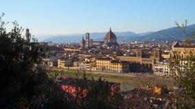 florence italy solnedgång tuscany arkivfilmer