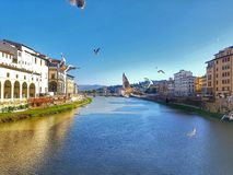 Florence Italy Toscana Ponte Vechio royalty-vrije stock afbeelding