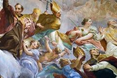florence italy väggmålning royaltyfria bilder