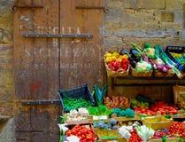 Florence Italy Vegetable Stand stock afbeeldingen