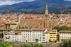 Florence, Italy. View of Basilica di Santa Croce Royalty Free Stock Images