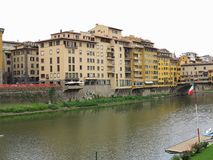 14.06.2017 Florence, Italy: View of medieval stone bridge Ponte Stock Images