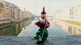 Florence italy vintage puppet Pinocchio stock footage