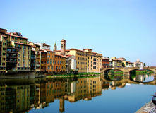 Florence, Italy Water Walk Royalty Free Stock Images