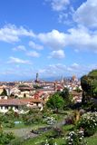 Florence Itay landscape. Florence, Italy. View from the Giardino delle Rose (Rose Garden). The garden, from which you can admire a splendid view over the city of royalty free stock photos